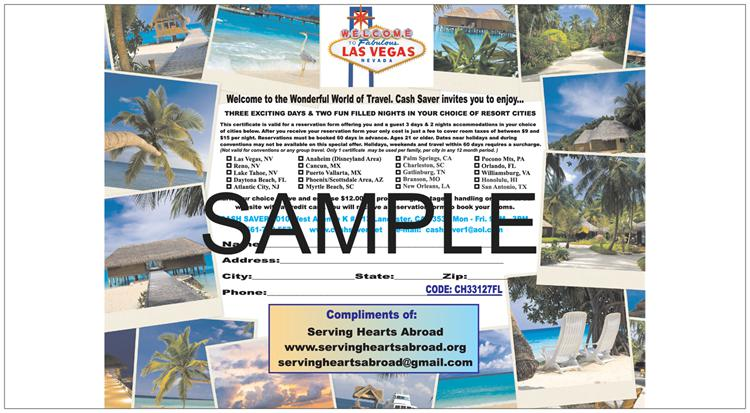 Unlimited Vacation Restaurant Grocery Savings Certificates